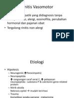Rinitis vasomotor