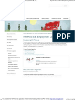 Developing HR Policies _ HR Policies & Employment Legislation _ HR Toolkit _ Hrcouncil