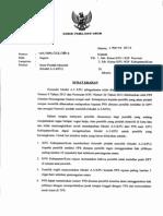 Surat Edaran KPU Untuk Pemindahan Tempat Memilih