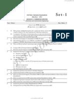 III B.Tech. I Semester Examinations May/June - 2012 ANALOG COMMUNICATIONS ( Electronics and Communication Engineering )