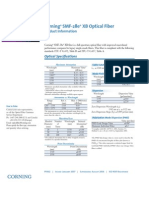 Corning SMF28e XB Bend Optimized Fiber Spec Sheet