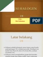 reaksi halogen