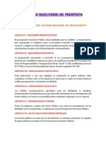 Principios Regulatorios Del Presupuesto