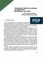 Caso Dimensionamiento y Localizacion Optima de Planta de Leche