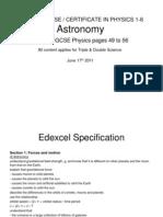 Igcse 16 Astronomy