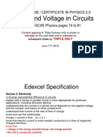 Igcse 23 Current&Voltageincircuits