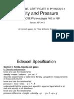 Igcse 51 Density&Pressure