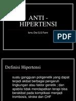 Anti - Hipertensi