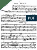 Mozart-Violin Sonata in A