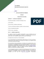 Ley 20744 Contrato de Trabajo