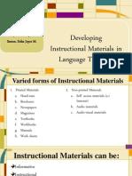 Developing IM in Language Teaching (01.29.14)