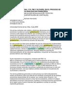 El Banco Mundial y El Fmi y Su Papel en El Proceso de Globalizacion Financiera