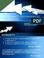 Module 1 Estimate 2