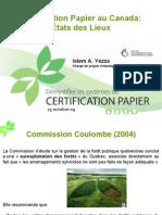 Certification papier au Canada