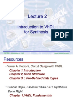 Lecture2 VHDL for Synthesis