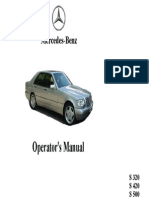 1995 Mercedes Benz S Class Owner's Manual