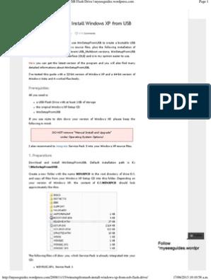 WinSetupFromUSB – Install Windows XP from USB Flash Drive | Booting