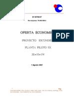Proyecto Pta Piloto ESCONDIDA