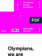 Sylvia Mae Gorelick - Olympians, we are breathless