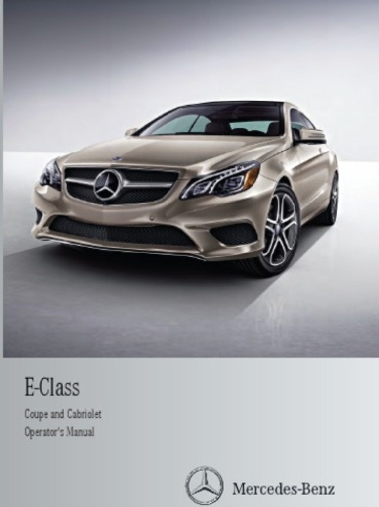 2014 mercedes benz e class coupe cabriolet owner s manual rh scribd com HighBeam Safety High Beams Restaurants