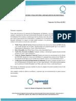 Comunicado N° 2 - Reestructuración Física Departamento de Industrias