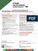 Formation Referencement Naturel SEO SEM Reseaux Sociaux Directeur Marketing Communication 2009