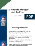 Strategic Finance Lecture 1