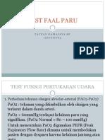 Test Faal Paru Topan