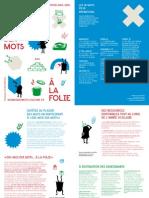 FRANCOPHONIE 2014 Dismoidixmots Alafolie Depliant