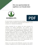 Es Herbalife una oportunidad de negocios legítima o un fraude bien montado