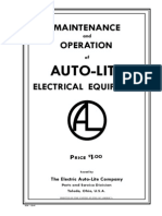 Autolite Generator  and Starter technical manual