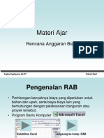 Materi Ajar Rencana Anggaran Biaya