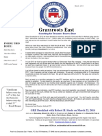 March 2014 Grassroots East Newsletter