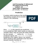Filtred Prediction