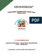 Regulament Concurs 2009