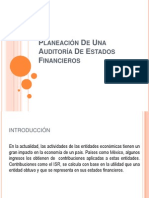 Planeación De Una Auditoria De Estados Financieros