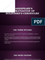 Shakespeare's Dramatization of Holinshed's Chronicles