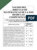 3.- Analisis Del Curriculo de Matematicas de La Eso Desde Las Competencias