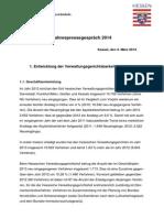 Jahrespressegespräch 2014