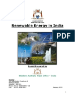 India Renewable Energy Report January 2012