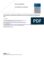 The Judiciary, International and National, And the Development of International Law