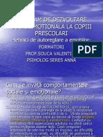 Program de Dezvoltare Socio-emotionala La Copiii Prescolari 2