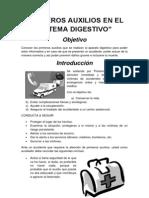 Primeros Auxilios en El Sistema Digestivo