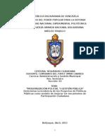 80444979 Trabajo Escrito Modernizacion Policial y Gestion Publica