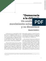 Democracia a la chilena. Un análisis del movimiento estudiantil y su desenlace. Falabella