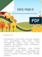 Usul Fiqh II - Nota 9 Mac 2014 (1)