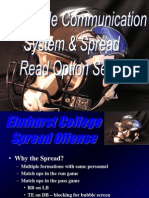 No Huddle Communication System Spread Read Option Series