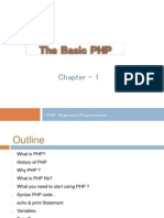 The Basic PHP - Chapter 1