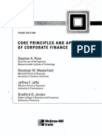 core and principle of corporate finance