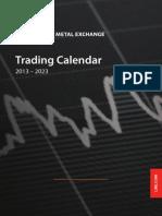 2013-2023 LME Trading Calendar
